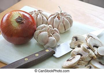 Onion garlic mushroom