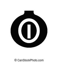 onion  glyph flat icon
