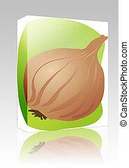 Onion illustration box package