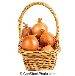 Onion in a basket
