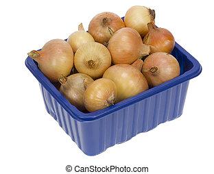 Onion in box