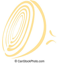 Onion line art