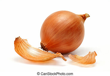 Onion - Mellow onions on a white background