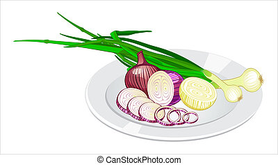 Onion on the plate