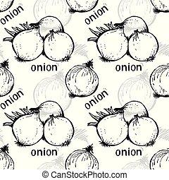 Onion seamless vector pattern