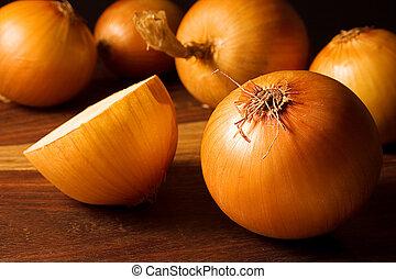 Onions in warm light