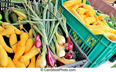 Onions and squash