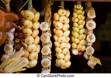 Onions in a shop