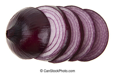 onions isolated on a white background