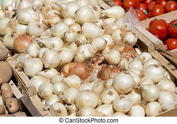 Onions on a market in France