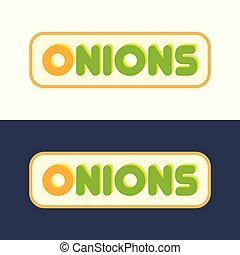 Onions - Set of Style Emblems
