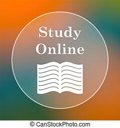 online, ícone, estudo