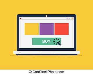 online αγοράζω από καταστήματα , γενική ιδέα
