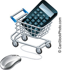 Online accounting concept