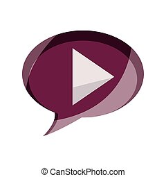 online activities, video player button digital flat style icon