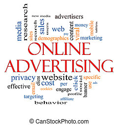 Online Advertising Word Cloud Concept with great terms such...