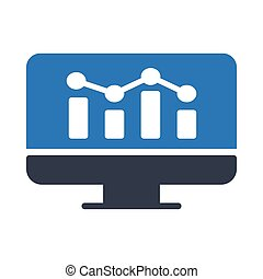 online analytic graph glyph color icon
