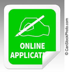 Online Application Means Internet Job 3d Illustration