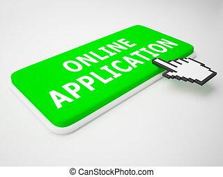Online Application Means Internet Job 3d Rendering