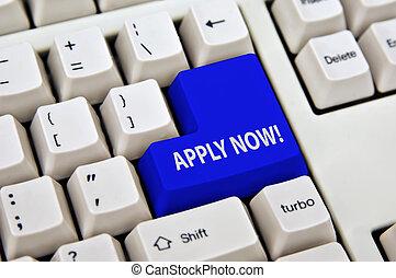 online application enter key of keyboard is apply now