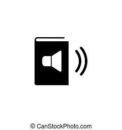 Online Audio Book Flat Vector Icon