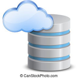 Online backup icon - Online backup service. Cloud network...