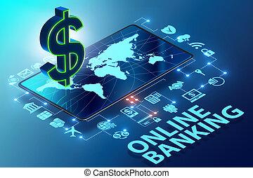 Online banking concept - 3d rendering