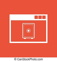 Online banking icon. vector design. online banking symbol. web. graphic. JPG. AI. app. logo. object. flat. image. sign. eps. art. picture