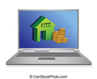 online banking illustration concept