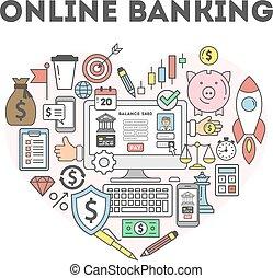 Online banking illustration.