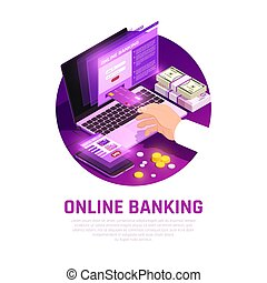 Online Banking Isometric Round Composition
