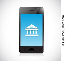 Online Banking on a smart phone. Concept illustration