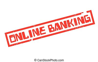 Online Banking rubber stamp