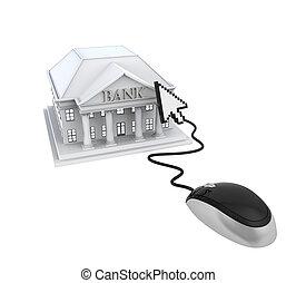 online bankwezen, illustratie