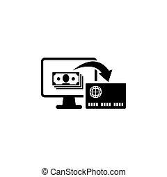 online bankwezen, plat, vector, pictogram