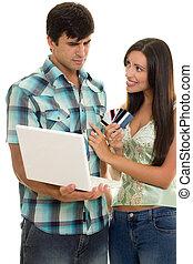 online bevásárlás, hitel kártya