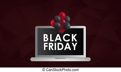 Online black friday HD animation - Online black friday from...