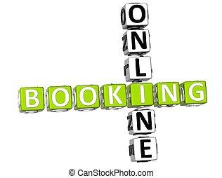 online, boeking, kruiswoordraadsel