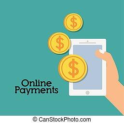 online boodschapend doend, ecommerce, betaling