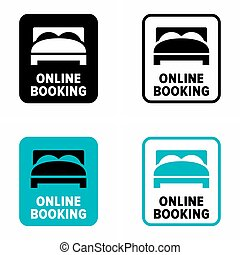 Online booking and reservation information sign