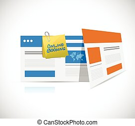 online booking browsers illustration design over a white ...