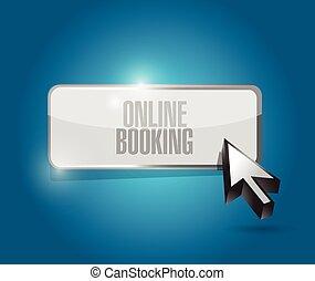 online booking button illustration