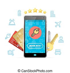 Online Booking Concept. Vector - Online Booking Concept ...