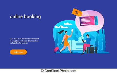 online booking concept2 - Man orders tickets via internet. ...