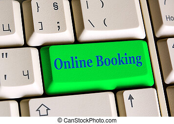 Online Booking key - Online Booking on computer keyboard -...