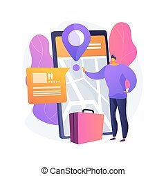 Online booking services abstract concept vector illustration...