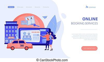 Online booking services concept landing page - Searching ...