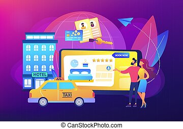 Online booking services concept vector illustration - ...