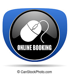 Online booking web icon
