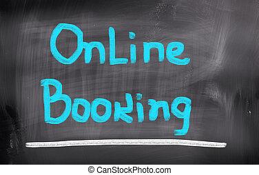 online, buchung, begriff